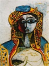 Vik Muniz, Jacqueline in Turkish Costume, after Picasso (from Pictures of Pigment)