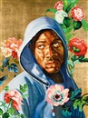 Kehinde Wiley, Head of a Young Girl Veiled and Crowned with Flowers (from the Icon Series)