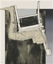 Jasper Johns, Fragment - According to What: Leg and Chair