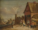 David Teniers the Younger, Village Scene with Revellers