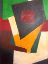 Attributed To Liubov Popova, Untitled (Abstract Composition)