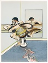 Francis Bacon, Figure writing reflected in mirror