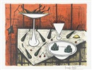 Bernard Buffet, Nature morte au fond rouge