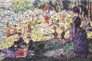Vik Muniz, A sunday on la Grande Jatte, after Georges Seurat (Gordian puzzles)