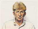 Wayne Thiebaud, Portrait of Sterling Holloway
