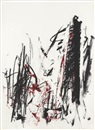 Joan Mitchell, Arbres (Black and Red)