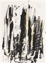 Joan Mitchell, Arbres (Black and Yellow)