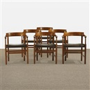 Hans J. Wegner, Dining chairs (set of 6)