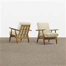 Hans J. Wegner, Lounge chairs (pair)