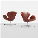 Arne Jacobsen, Swan chairs (pair)