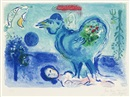 Marc Chagall, Landscape with Rooster