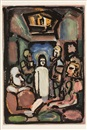 Georges Rouault, Le Christ et Mammon (from Passion) (sold with 166B&C; set of 3)