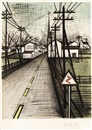 Bernard Buffet, La Route (sold with 181B; set of 2)