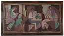 Beatrice Wood, The Three Musicians (6 panel tile)(in 6 parts)