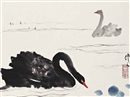 Wu Zuoren, Study of two swans