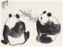 Wu Zuoren, Study of two pandas