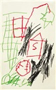 Jean-Michel Basquiat, Untitled (House with S and Baseball)