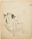 Willem de Kooning, Study for Seated Woman