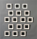 Sol LeWitt, All Double Combinations (Superimposed) of Geometric Figures (Circle, Square, Triangle, Rectangle, Trapezoid, Parallelogram) (16 works)