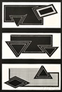 Frank Stella, Black Stack (from The Stacks Series)