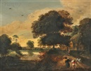 Manner Of Pieter Jansz van Asch, Landscape with Figures