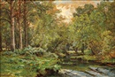 William Trost Richards, The Stream at the Forest's Edge