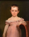 American School (19), Portrait of a child in a pink dress