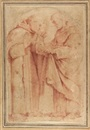 Attributed To Francesco Albani, Due figure