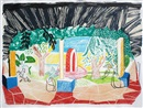 David Hockney, View of Hotel Well I (from Moving Focus series)