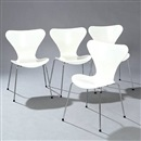 Arne Jacobsen, Seven Chair (model 3107) (set of 4)