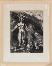 Marc Chagall, Two compositions from the series Jean de La Fontaine Fables (2 works)