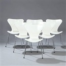 Arne Jacobsen, Seven Chair (model 3107) (set of 6)