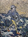 Vik Muniz, The sower, after Van Gogh