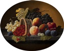 Severin Roesen, Still life with fruit