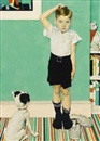 Norman Rockwell, He's Going to be Taller than Dad