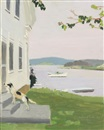 Fairfield Porter, The Dog at the Door