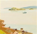 Fairfield Porter, Peak Island and Lobster Boat
