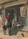 Edwin Lord Weeks, Street vendor, Ahmedabad