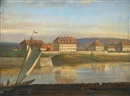 Johan Christian Clausen Dahl, View over the Elbe and the barracks