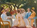 Michael Peter Ancher, Skuespillerfrokost (The actors lunch, Skagen)