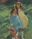 Martha Walter, Two Girls