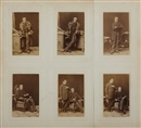 Ludwig Angerer, Johann Nepomuk Nestroy Vienna, 14th of March, 1861 (set of 6)