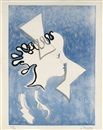 Georges Braque, Profil de femme (from the series of 18 colour woodcuts for the book: Si je mourais là-bas by Guillaume Apollinaire)
