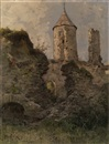 Yuliy Yulevich (Julius) Klever, View of Haapsalu Castle, Estonia