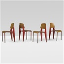 Jean Prouvé, Standard chairs no. 305 (set of 4)