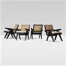 Pierre Jeanneret, Lounge chairs from Chandigarh (set of 4)