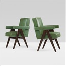 Pierre Jeanneret, Committe armchairs from the High Court, Chandigarh (pair)