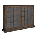 Gustav Stickley, Two-door bookcase with mitered mullions and cathedral arches