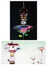 Takashi Murakami, A.二重螺旋逆轉-黑褐色 b.菌絲將逐步襲捲世 (Reversed double helix-black brown body) (+ hypha will cover the world, little by little; set of 2), A.二重螺旋逆轉-黑褐色 b.菌絲將逐步襲捲世 (Reversed double helix-black brown body) (+ hypha will cover the world, little by little; set of 2)
