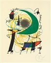 Joan Miró, 第一卷,月亮 (Volume I, the moon)